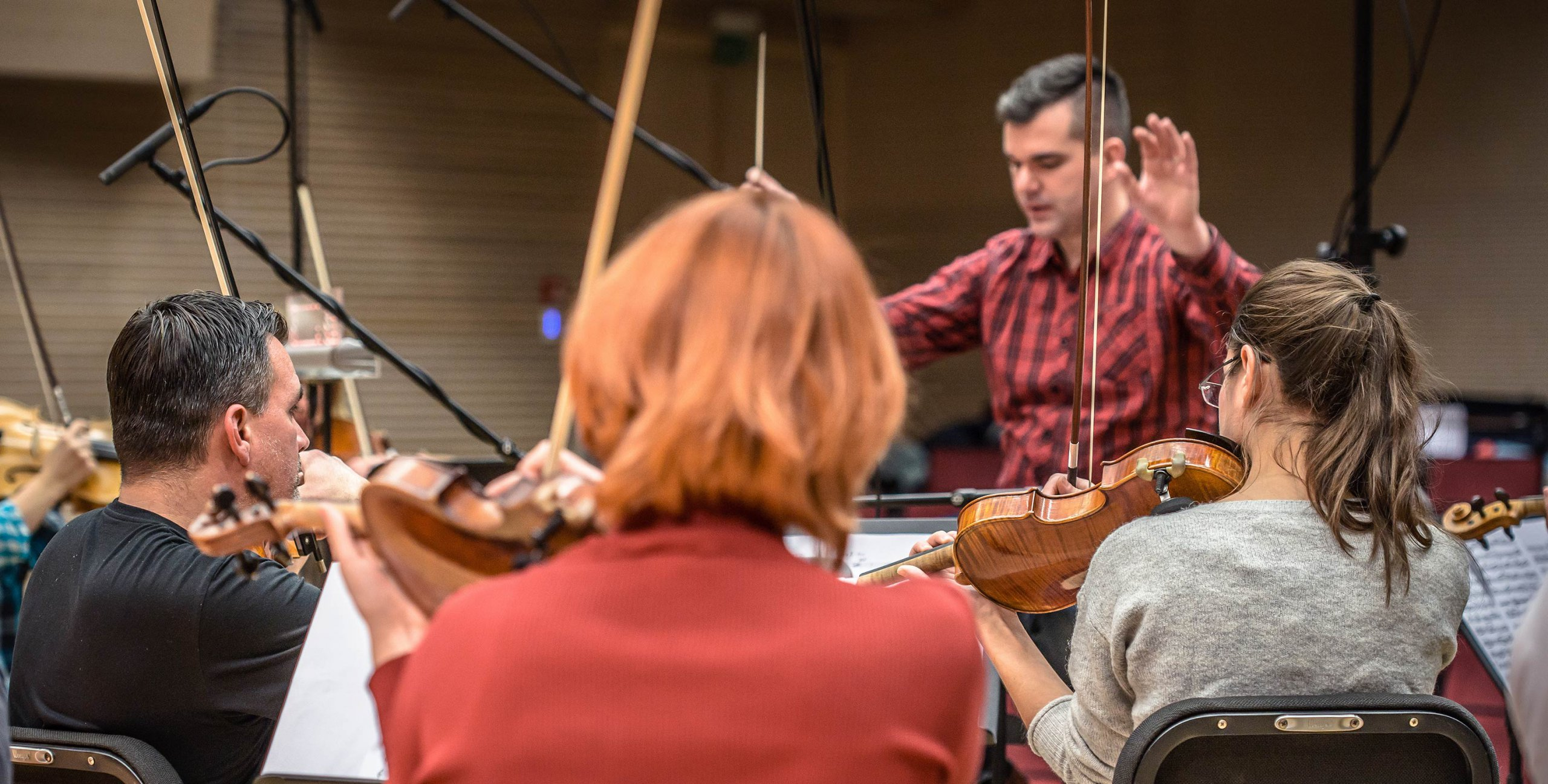 Zagreb Festival Orchestra at recording session